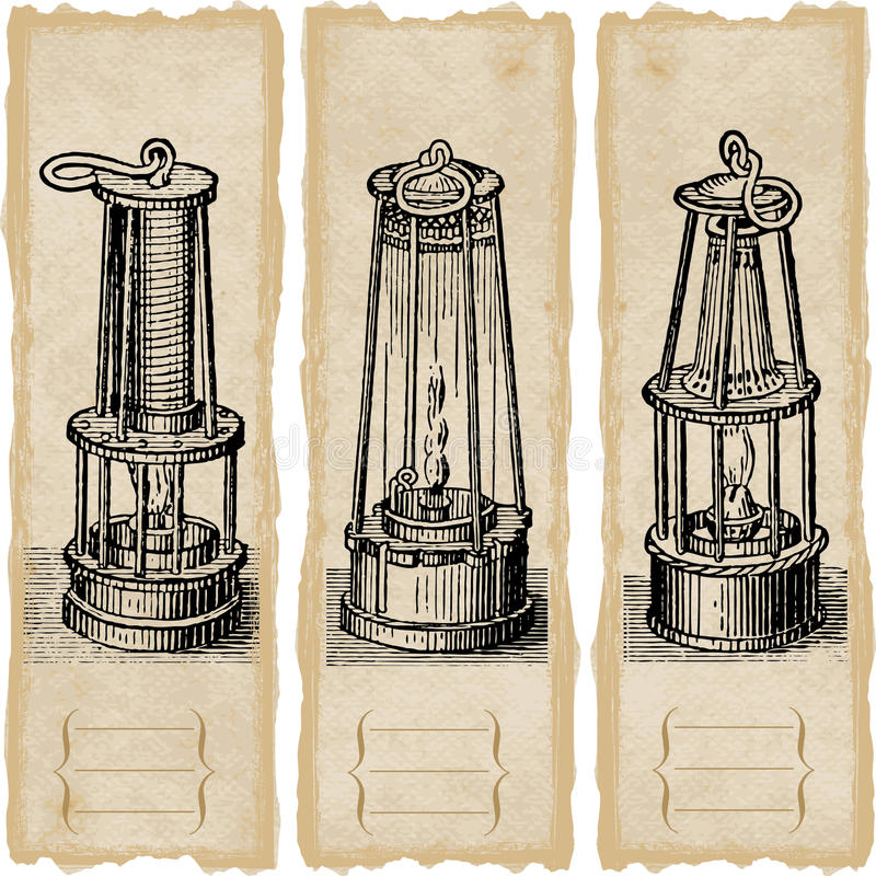 Download Safety lamps stock vector. Image of paper, painting, machine - 20251325
