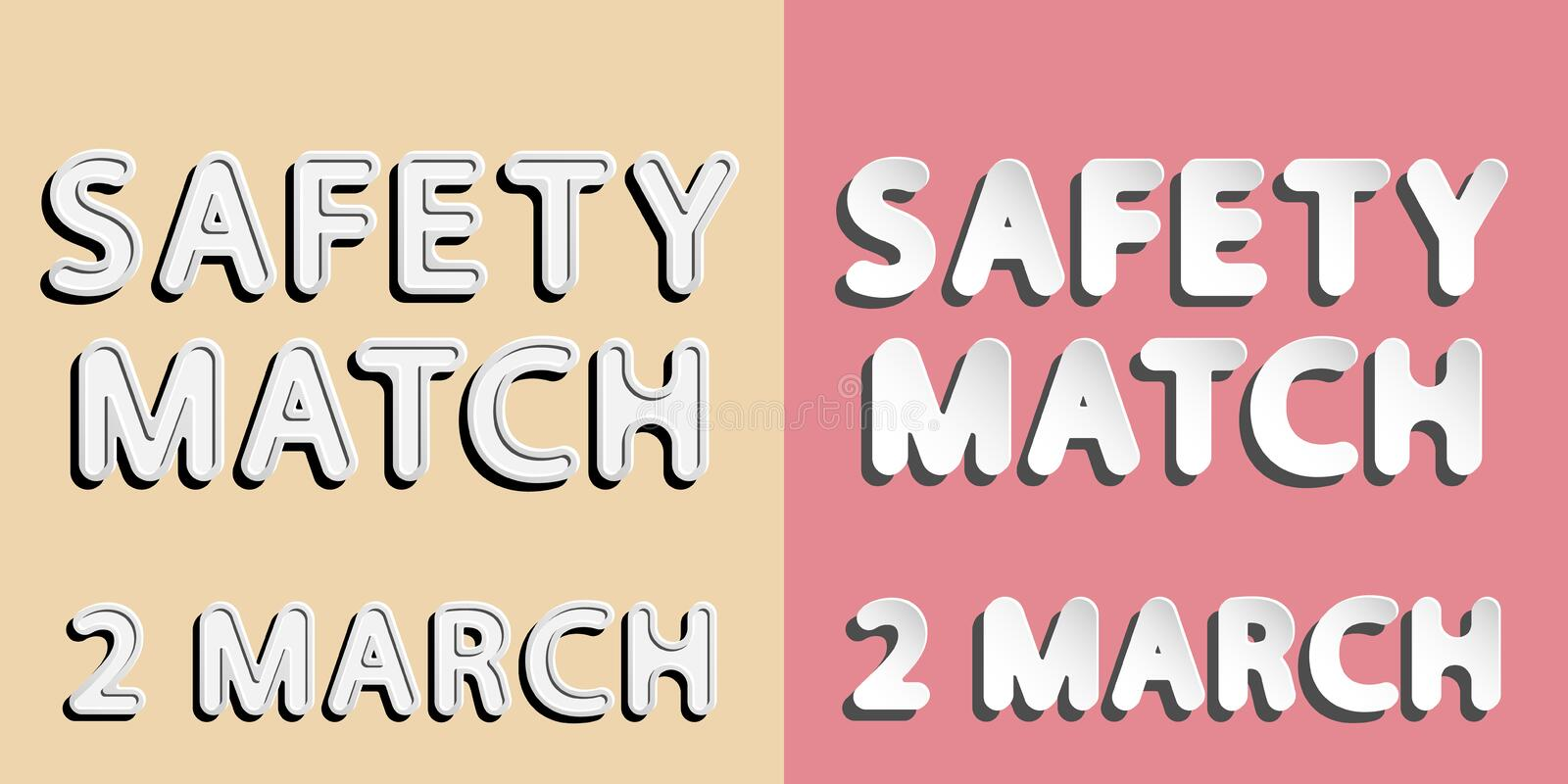 Safety match 2 march royalty free illustration