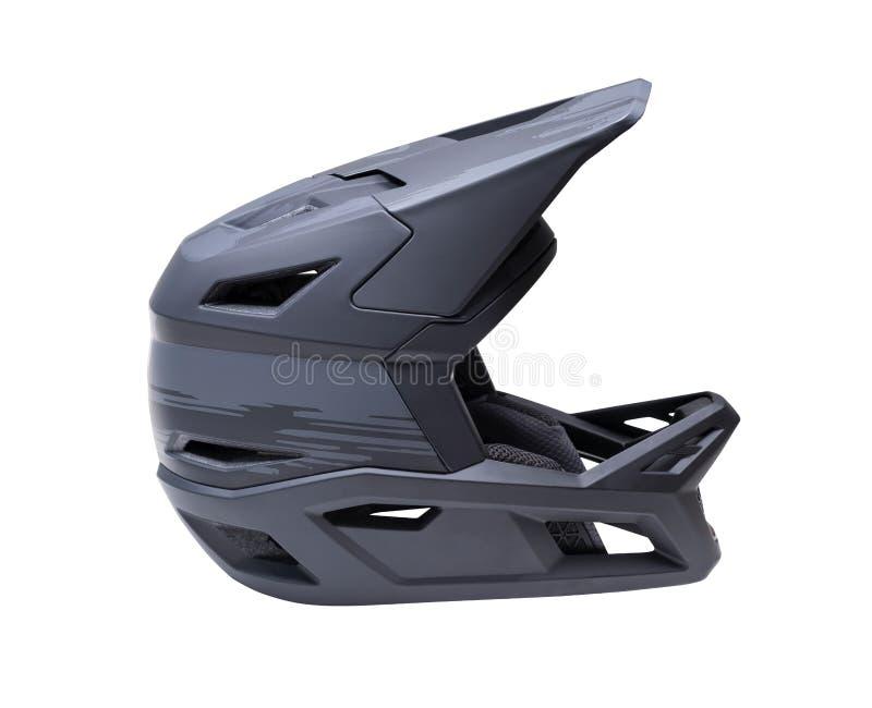 Safety mountain bike helmet stock image