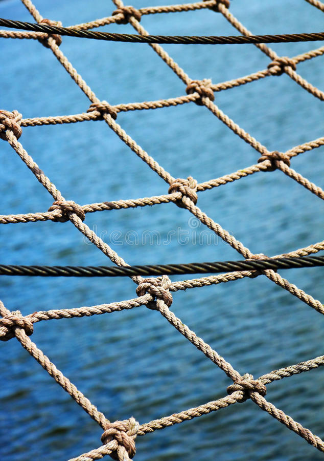 Download Safety net stock photo. Image of ocean, ropes, blue, cord - 10268778