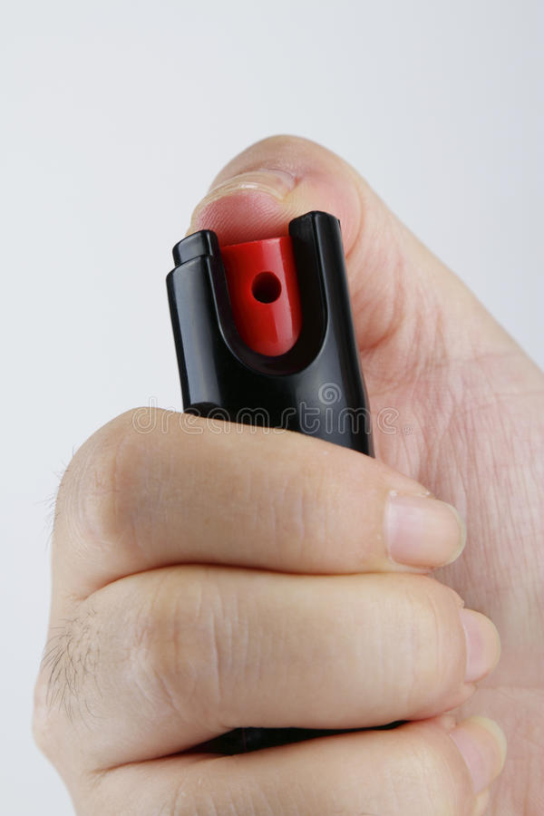 Safety with Pepper Spray stock photo