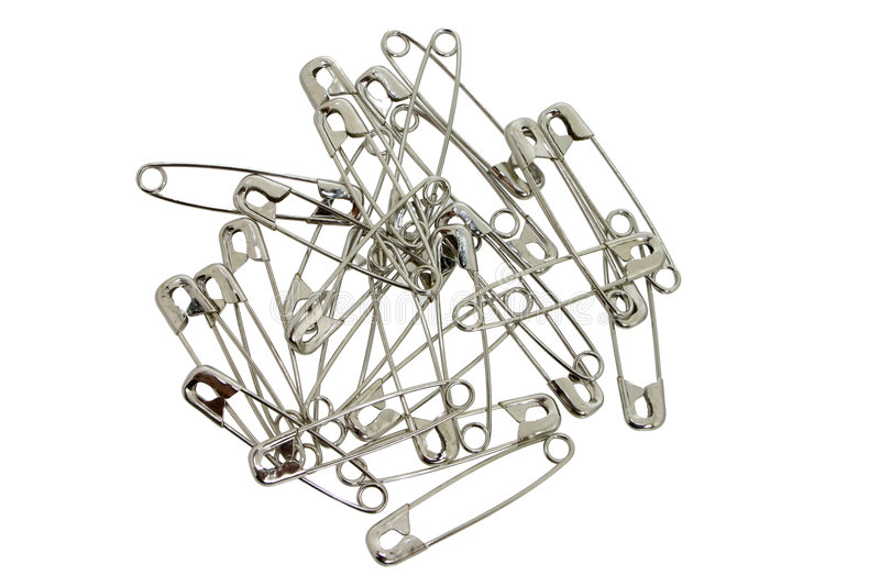 Download Safety Pins stock image. Image of metal, connect, silver - 46149