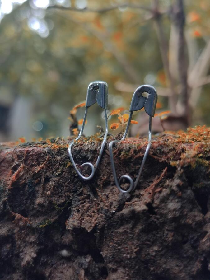Free Safety Pins Cute Relationship.Spend A Romantic Time Stock Photo - 225821440