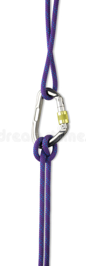 Download Safety Rope And Karabiner  With Clipping Path Stock Photo - Image: 24733386