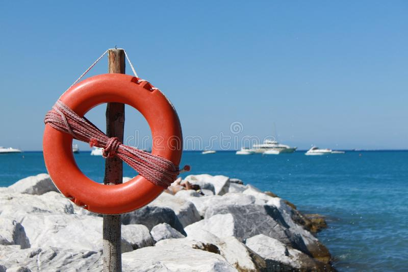 Safety Sea royalty free stock photography