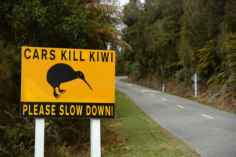 Safety signs for Kiwi in New Zealand royalty free stock photo