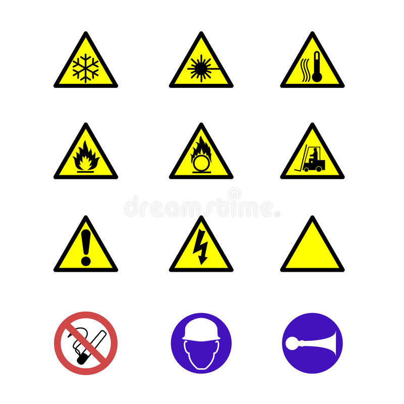 Download Safety signs and notices stock illustration. Image of hurt - 5983355