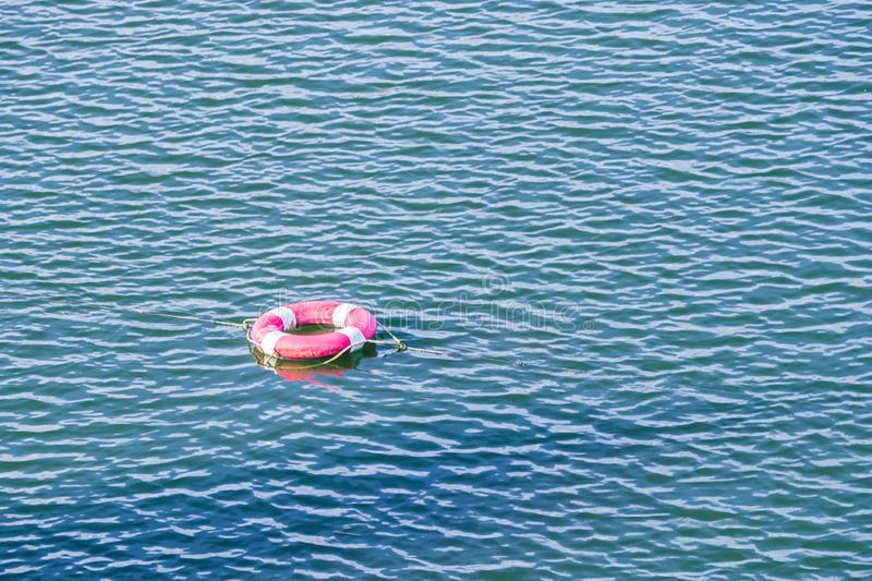 Safety Torus in the water.  stock images