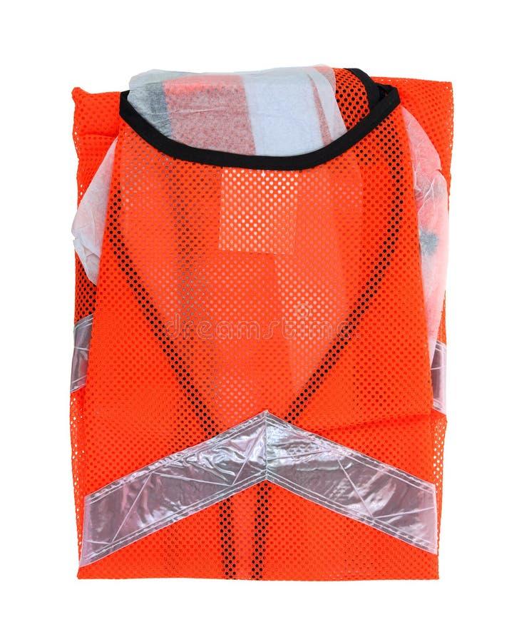 Safety Vest Back Neck up Close stock photos