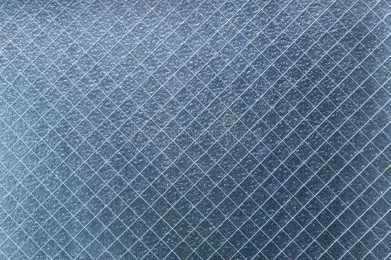 Safety wire crack protection glass. Translucent used in Japan stock photo