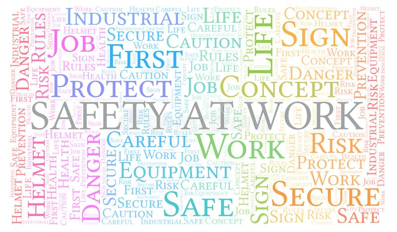 Safety At Work word cloud stock illustration