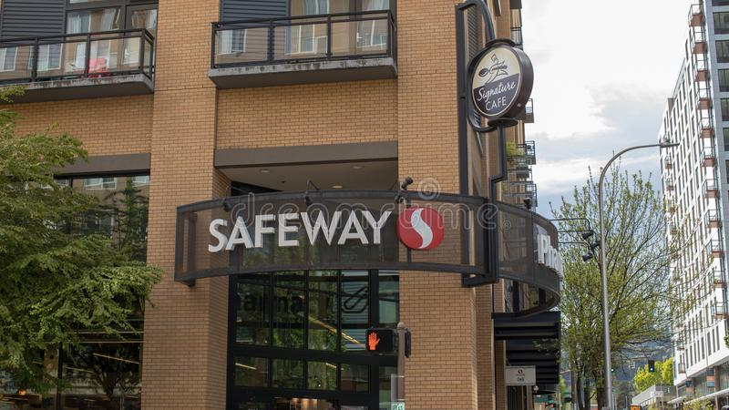 Safeway, американская сеть супермаркетов в Портленде, Орегоне стоковая фотография rf