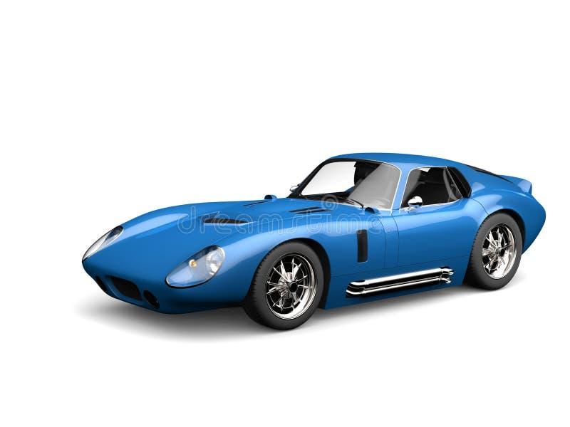 Saffier blauwe uitstekende raceauto royalty-vrije illustratie