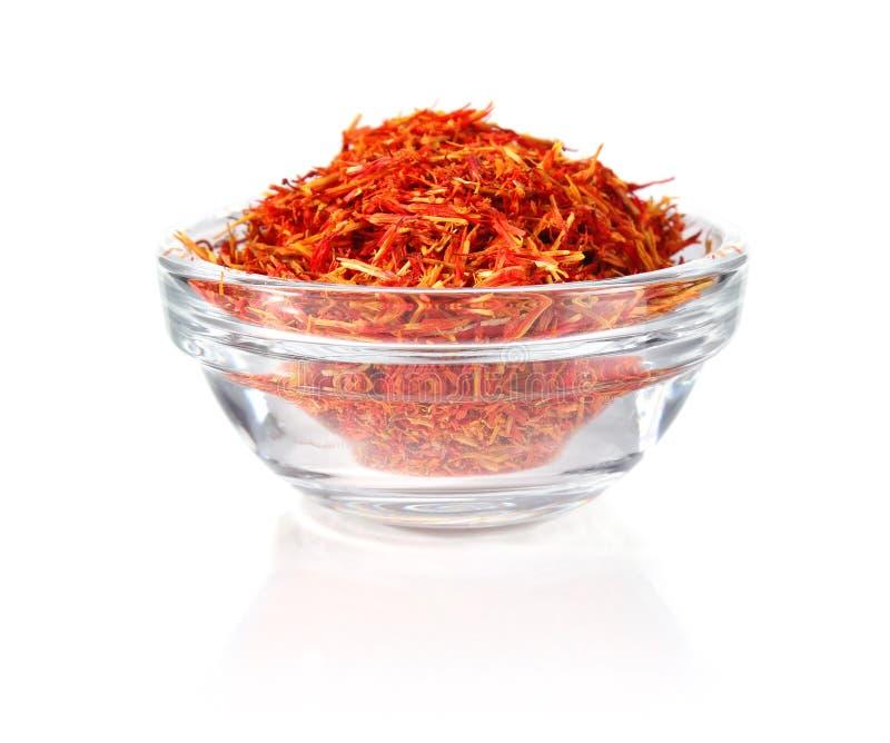 Saffron in glass tableware