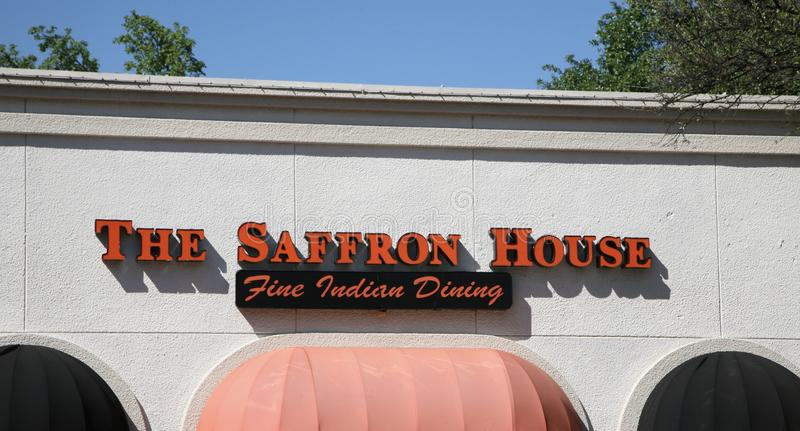 The Saffron House Fine Indian Dining. We create exquisite hand crafted meals that look sensational and taste divine. We invite you to enjoy a memorable dining royalty free stock image