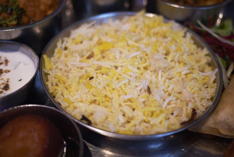 Saffron indian rice royalty free stock photos