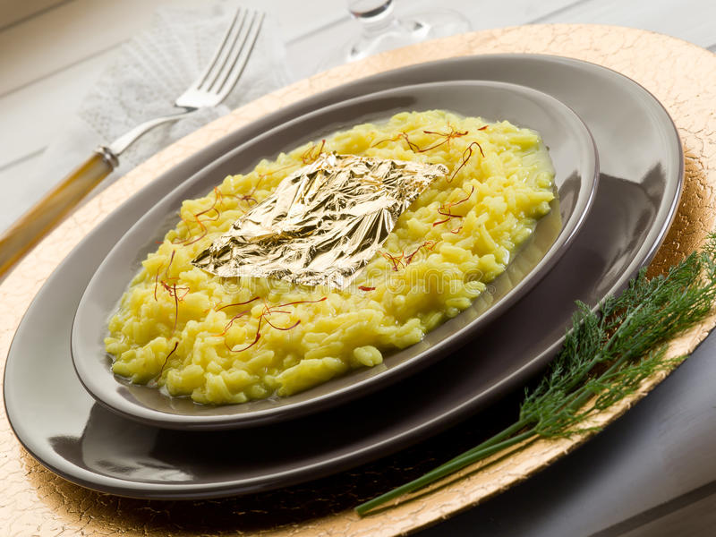 Download Saffron Risotto With Gold Leaf Stock Image - Image: 22010227