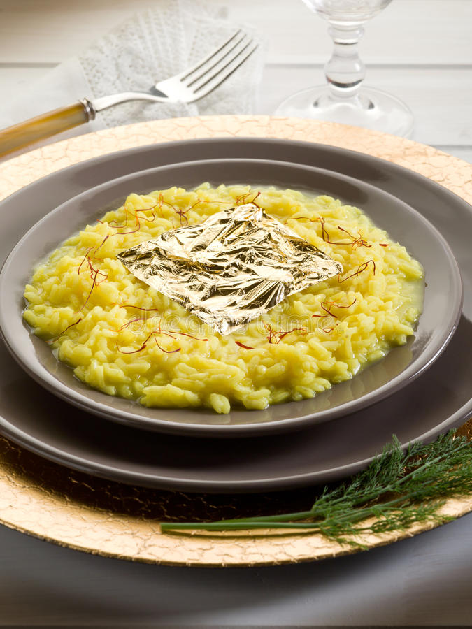 Download Saffron Risotto With Gold Leaf Stock Photo - Image of risotto, gourmet: 22010328