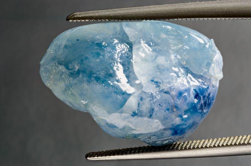 Safira azul imagens de stock