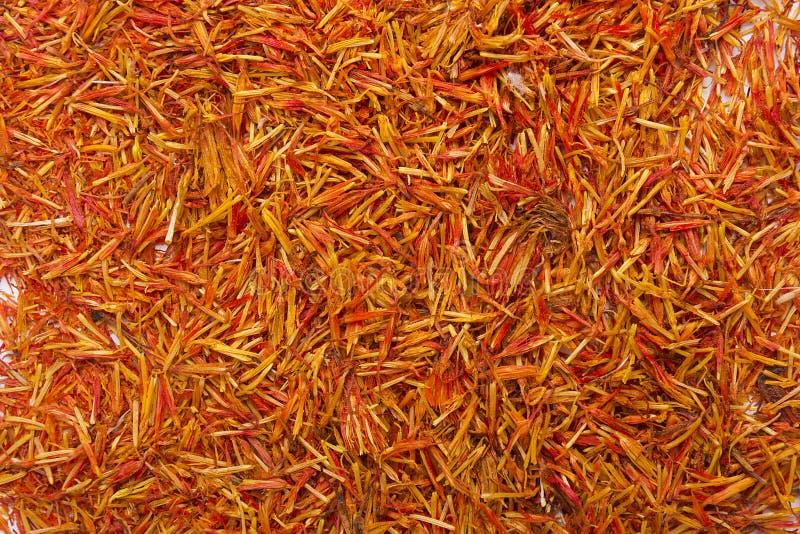 Safran d'inflorescence la plupart d'épice chère photos stock
