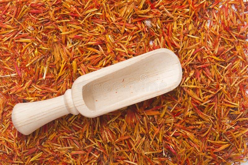 Safran d'inflorescence la plupart d'épice chère photos libres de droits