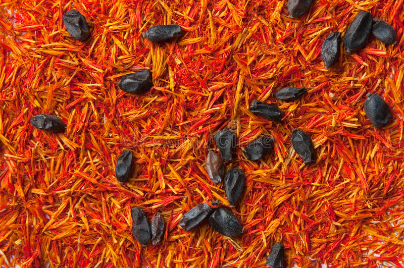 Safran- und Berberitzenbeeregewürz stockfotos