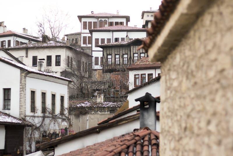 safranbolu房子和历史墙壁看法  库存图片