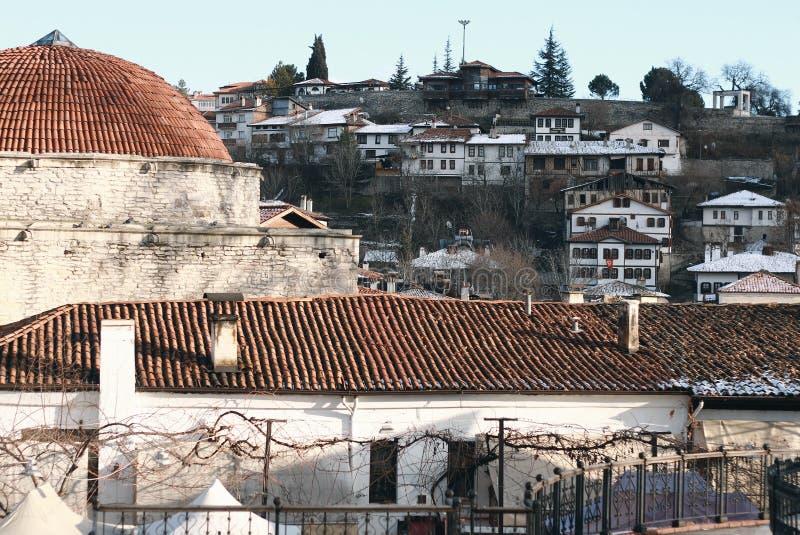safranbolu房子和hamam看法  库存照片