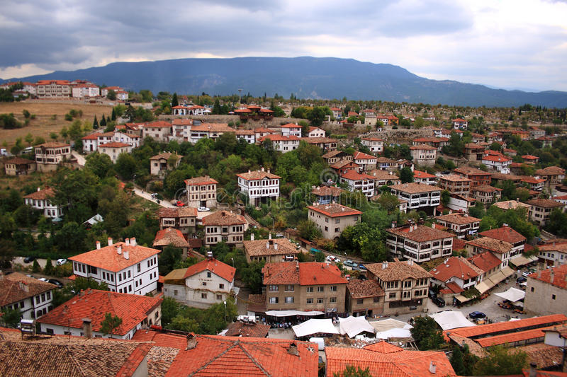Safranbolu, Turkey. Safranbolu is a town and district of Karabük Province in the Black Sea region of Turkey. The Old Town preserves many old buildings, with stock photo