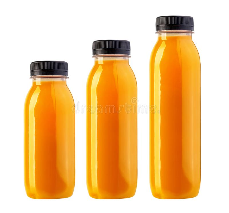 Saft in einer Flasche lokalisiert lizenzfreie stockbilder