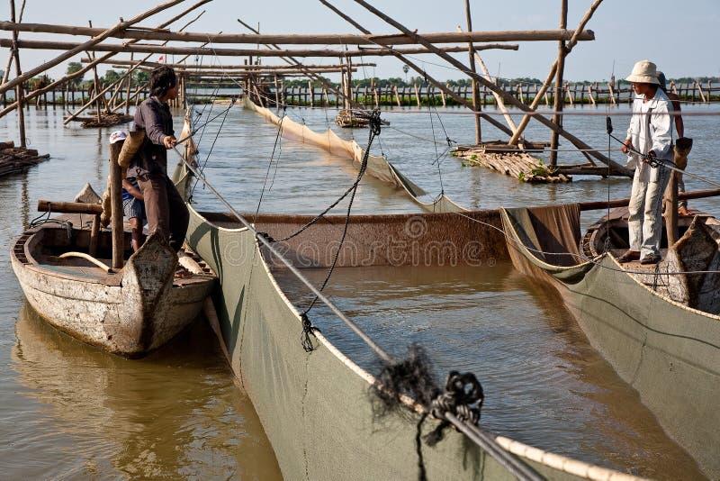 Saft Fischen Artel Tonle stockfoto