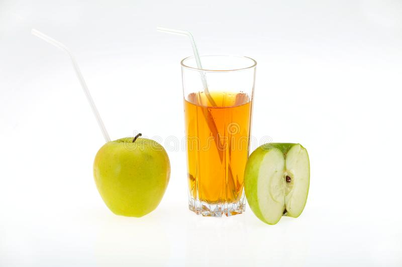 Saft und Apfel lizenzfreies stockbild