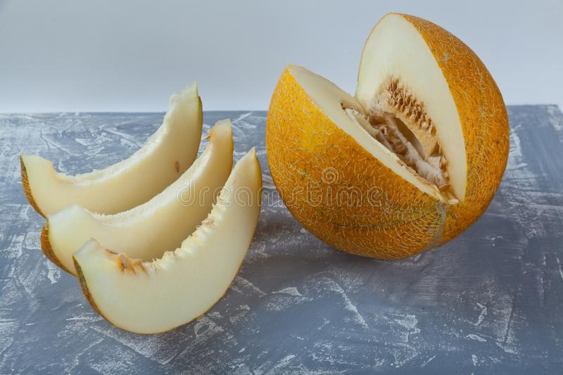 Saftig melon royaltyfri fotografi