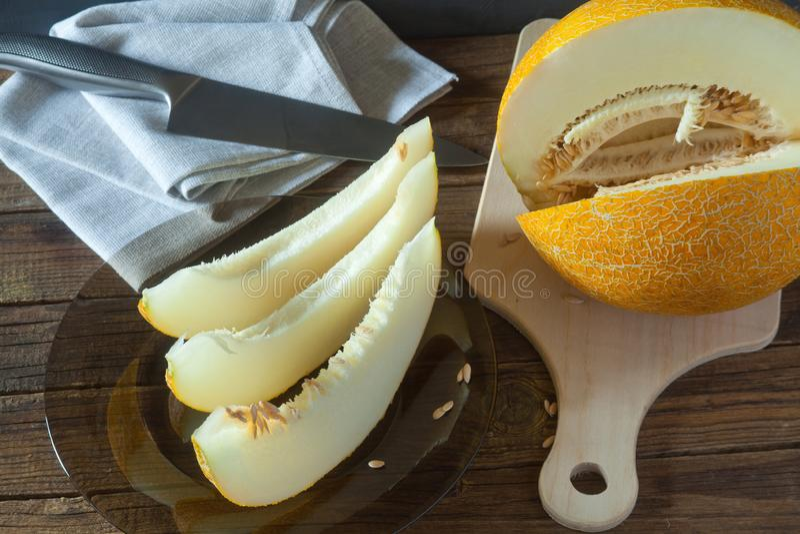 Saftig melon royaltyfria bilder