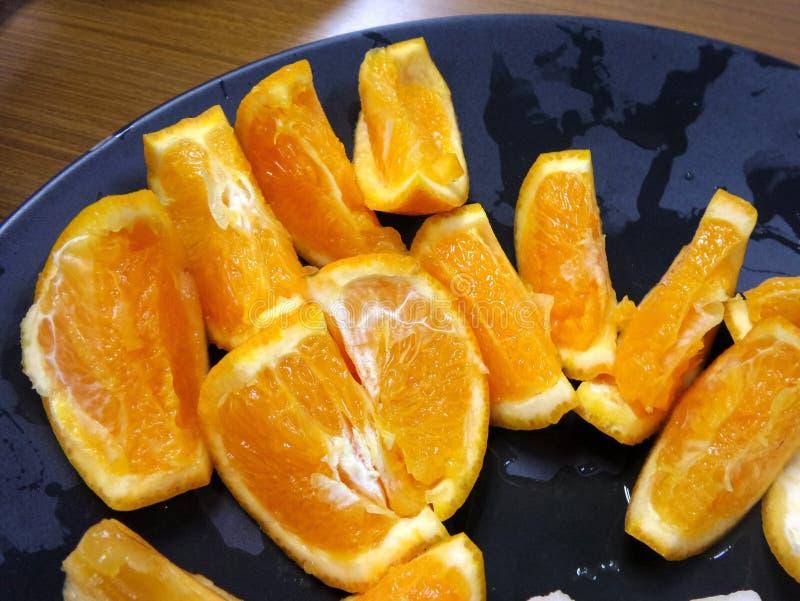 Saftig och söt ny apelsin royaltyfria bilder
