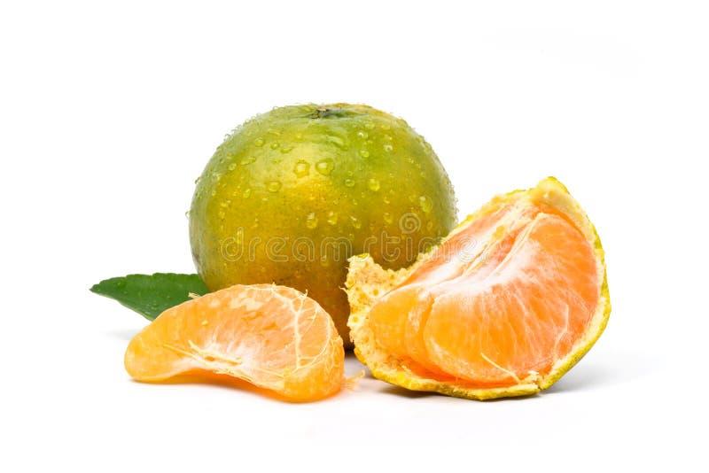 Saftig orange tangerinfrukt fotografering för bildbyråer