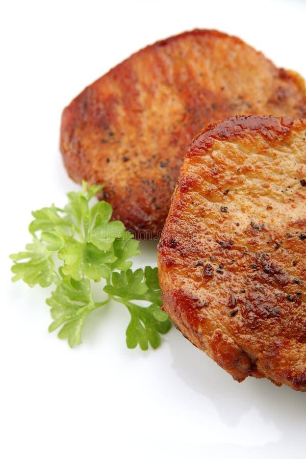 saftig steak för matställe arkivfoton