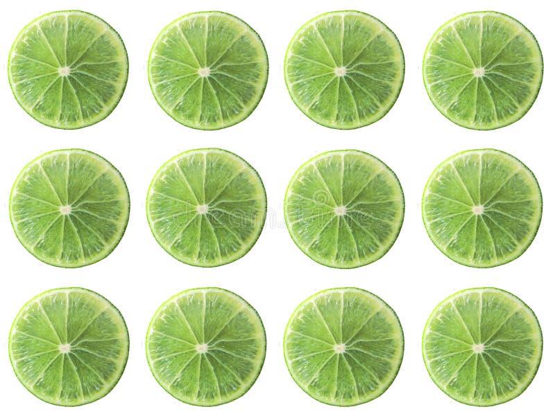 Saftige Ausrichtung der Kalkscheibenkreis-Form lokalisiert auf weißem Hintergrund lizenzfreie stockfotos