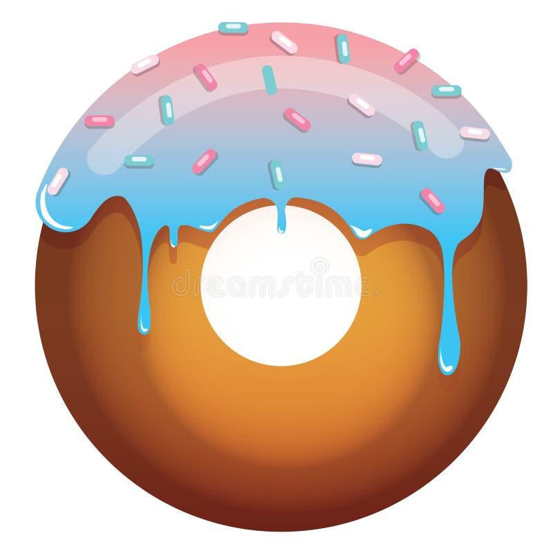 Saftige Donutillustration lizenzfreies stockbild
