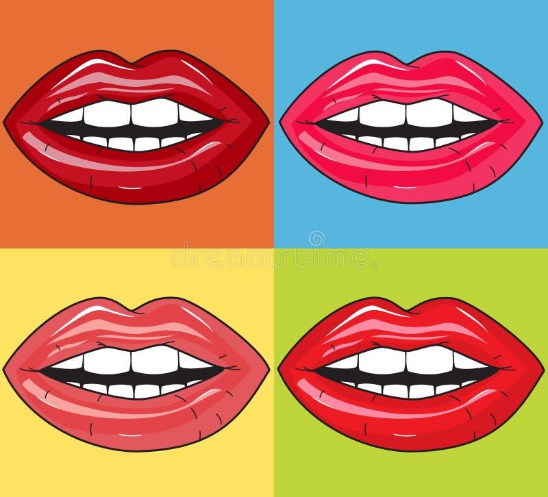 Saftige Lippen lizenzfreies stockbild