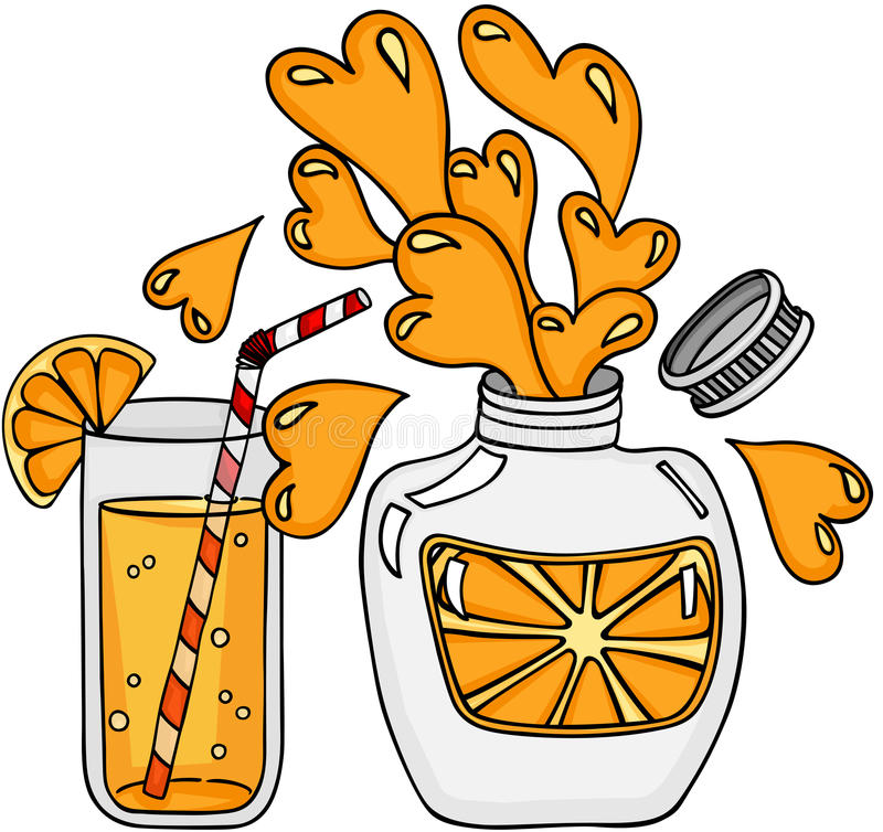 Saftige orange Erfrischung stock abbildung