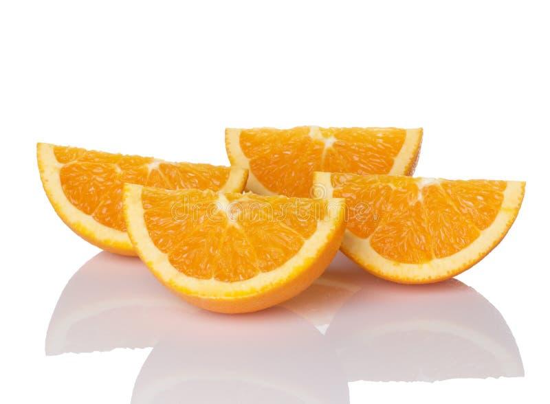 Saftige orange Scheiben stockfotografie