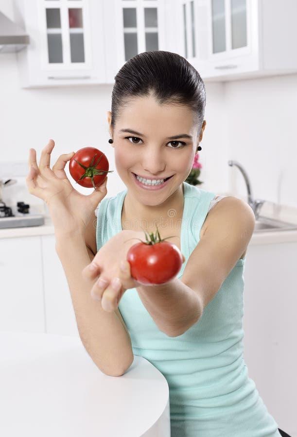 Saftige Tomate stockfotografie