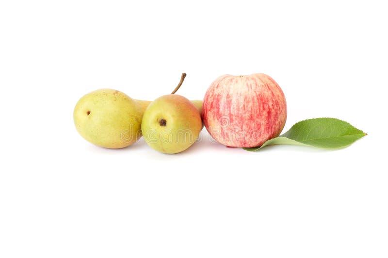 Saftiger Apfel und Pfeffer auf einem Weiß. lizenzfreie stockbilder