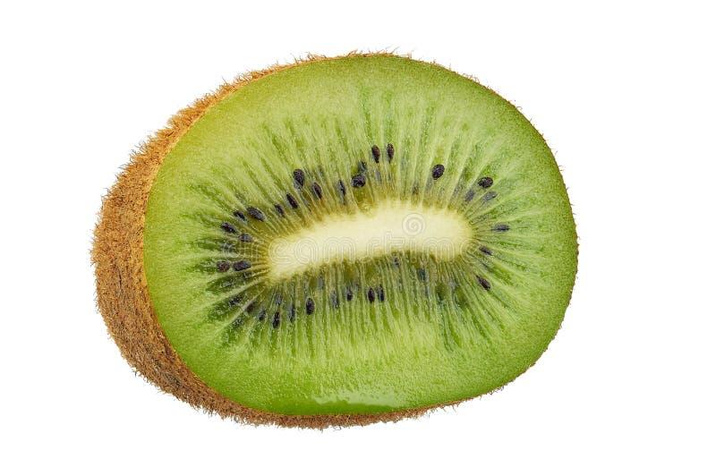 Saftiges Kiwi Actinidia deliciosa lokalisiert auf weißem backgro stockfotografie