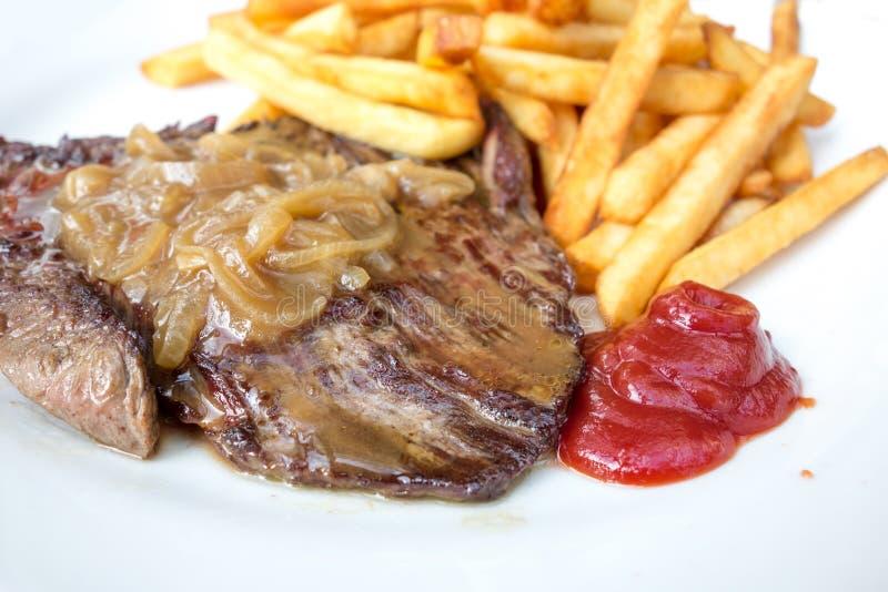 Saftiges Steakrindfleischfleisch stockbild