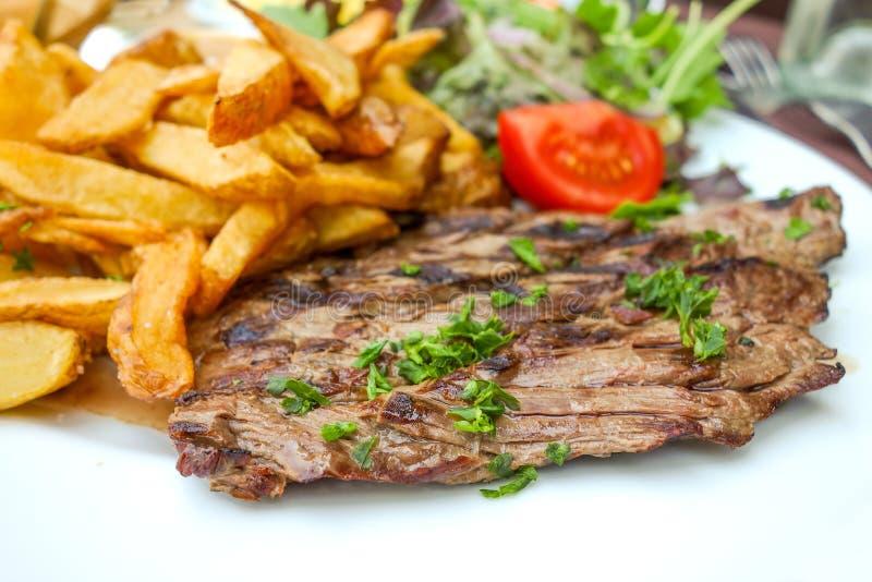 Saftiges Steakrindfleischfleisch stockfotografie