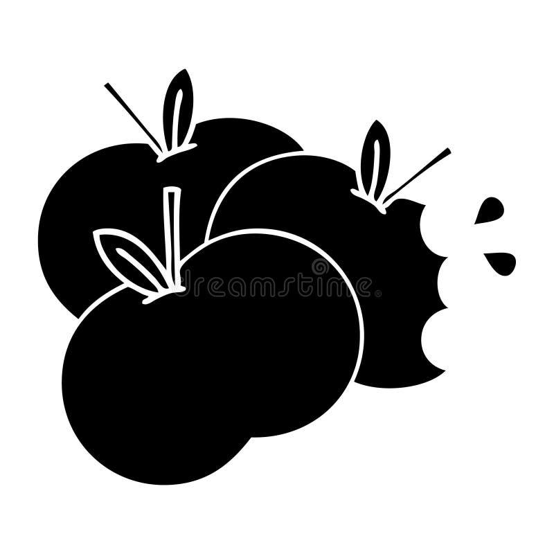 saftigt ?pple f?r plant symbol royaltyfri illustrationer