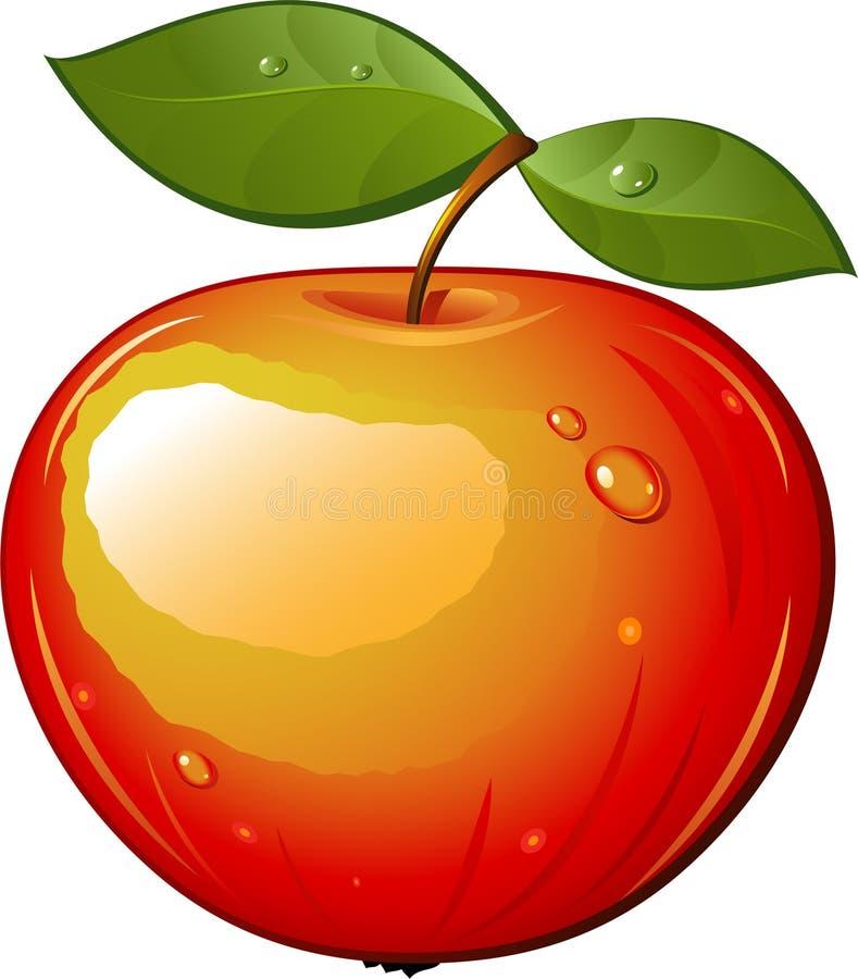 saftigt moget för äpple royaltyfri illustrationer