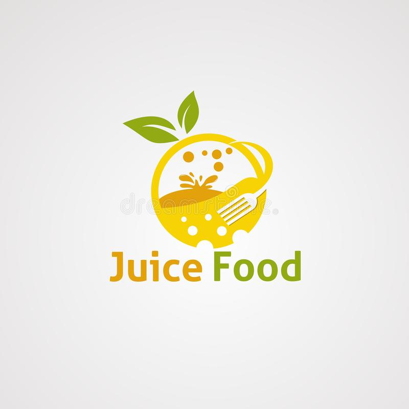 Saftnahrungsmittellogovektor, -ikone, -element und -schablone für Firma stock abbildung